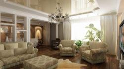 Стиль и дизайн интерьера гостиной в квартире