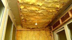 Утепление лоджии минеральной ватой