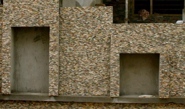 Конструкция наружной стены с фасадной частью