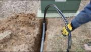 Подготовка дома к подключению электричества. Прокладка кабелей в земле