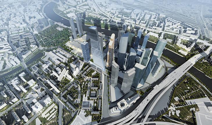 Территориальные особенности размещения высотных зданий в г. Москва