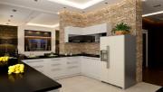 Использование декоративного камня в интерьере кухни