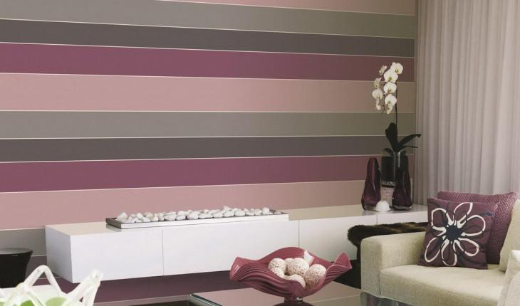 Используем обои для стен в полоску для визуального расширения комнаты