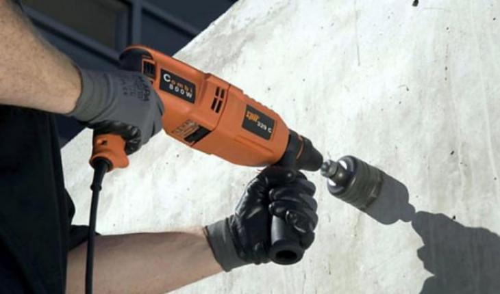 Если надо просверлить отверстие в бетоне