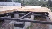 Заливка столбчатого фундамента
