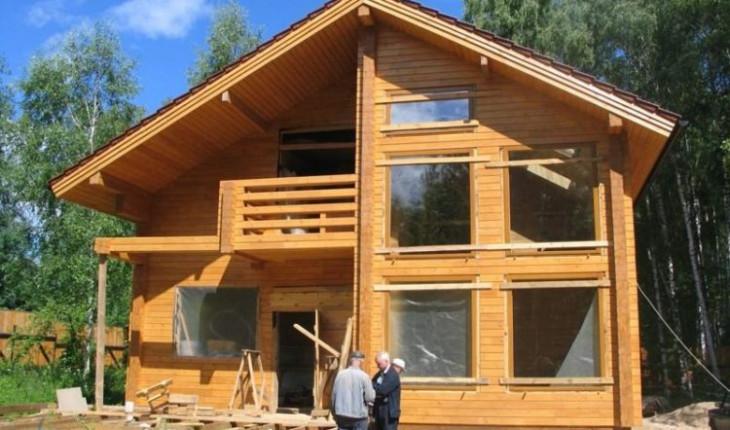 Строим дом из клееного бруса
