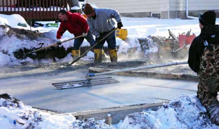 Можно ли зимой бетонировать