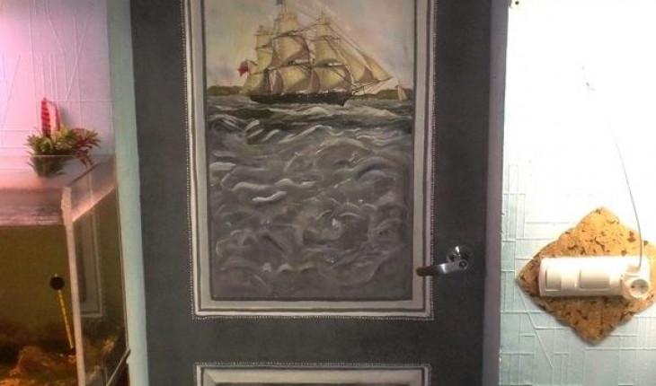 Как из старой двери сделать креативную