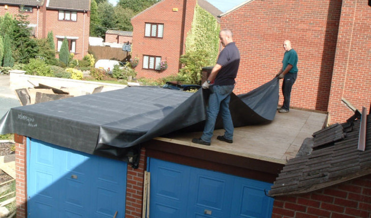 Ремонт крыши в гараже