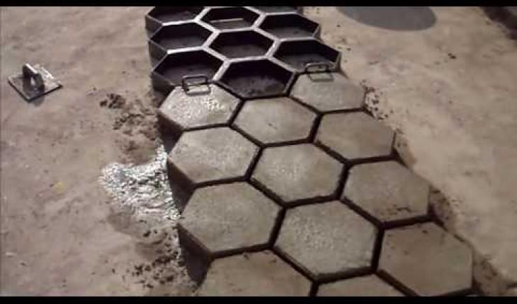 Как делать тротуарную плитку своими руками