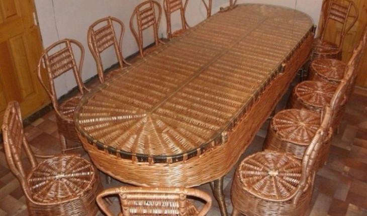 Если вы задумали изготовить плетеную мебель