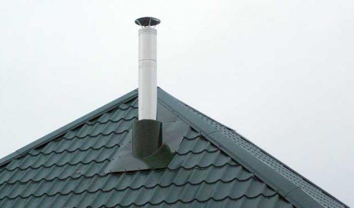 Если вам надо вывести трубу на крышу