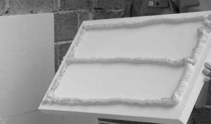Простая технология наклеивания пенопласта в качестве утеплителя