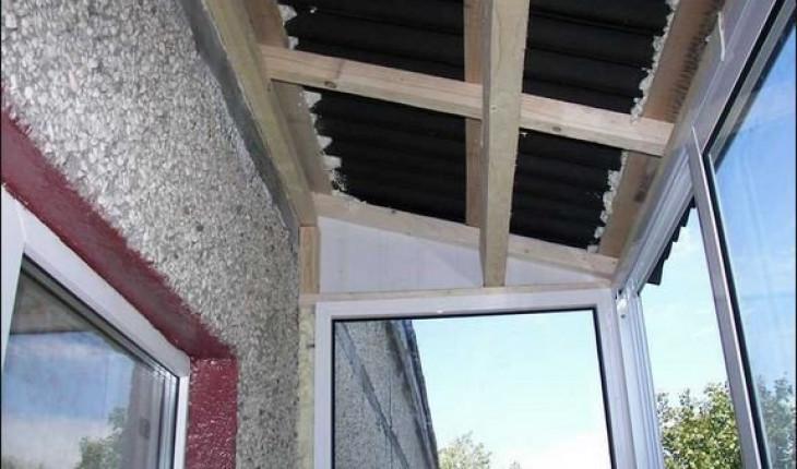 Как сделать для балкона крышу