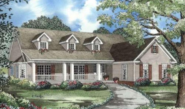Классическая планировка загородного дома мечты