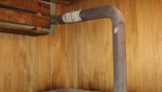 Простая конструкция дымохода для бани
