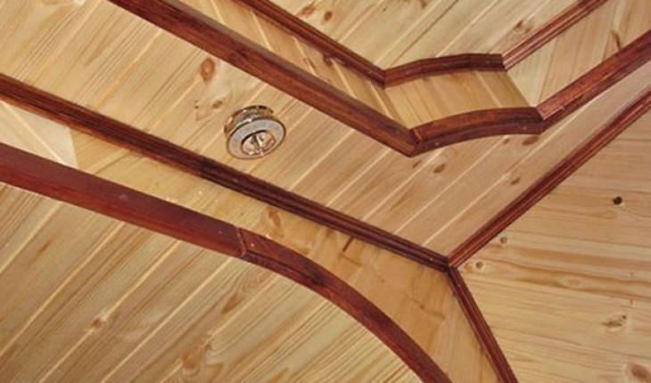 Как обшить вагонкой потолок
