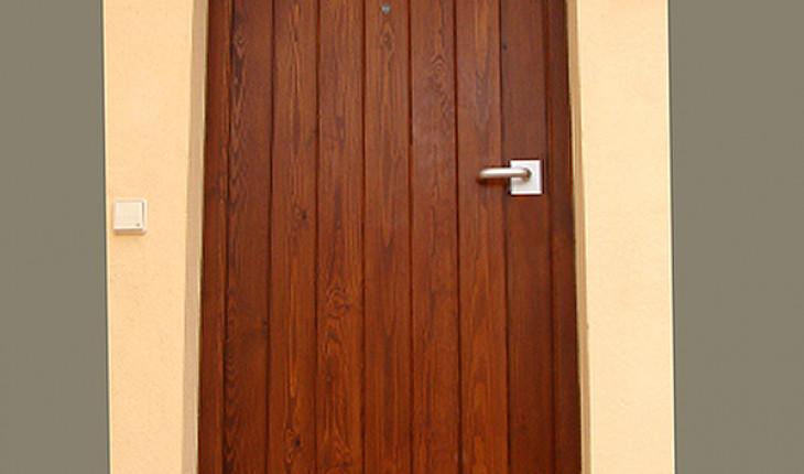 Если у вас входная дверь деревянная