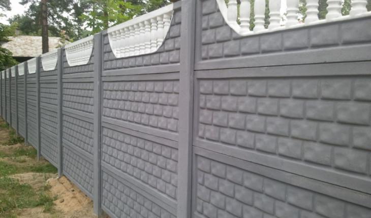 Бетонный забор: изящно и красиво