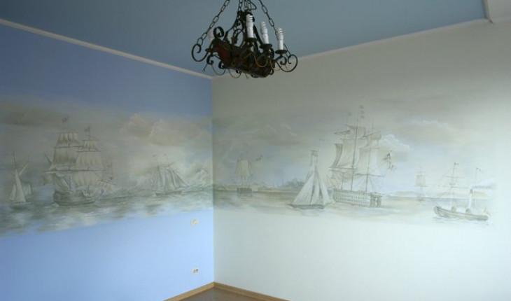 Роспись стен и потолков в интерьере