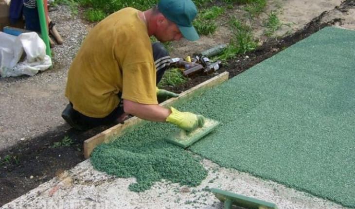 Полимеры в строительстве садовых дорожек