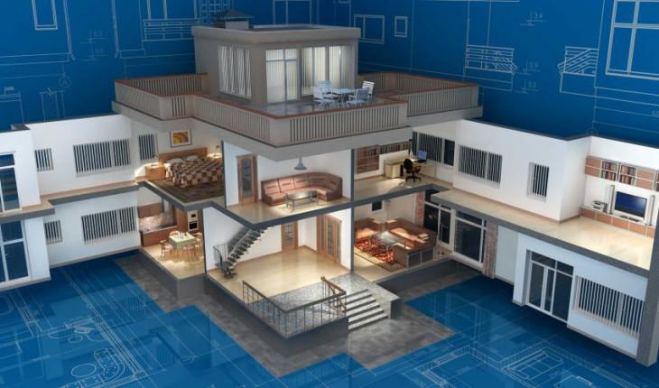 Технологии проектирования интерьеров коттеджей