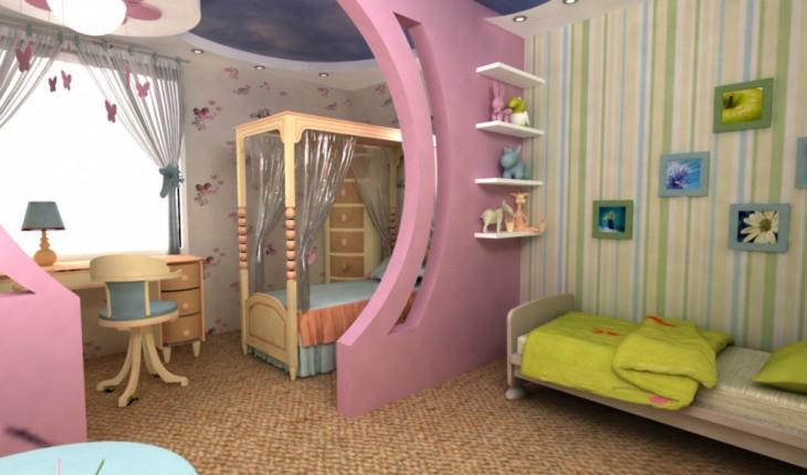 Зональность детской комнаты