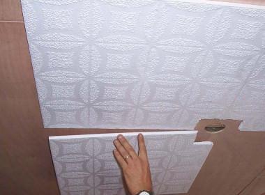 Клеевые потолки: легко и тепло