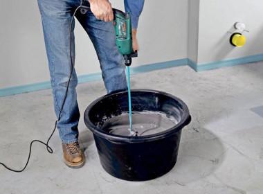Как правильно замешивать цемент?