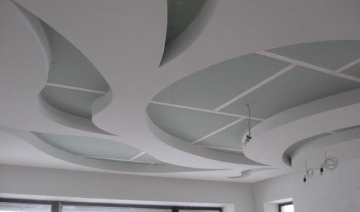 Многоуровневые криволинейные потолки, двухуровневые потолочные системы, фризы