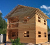 Срубы домов из профилированного бруса