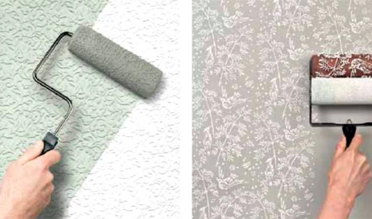 Виды обоев используемых на кухне под покраску