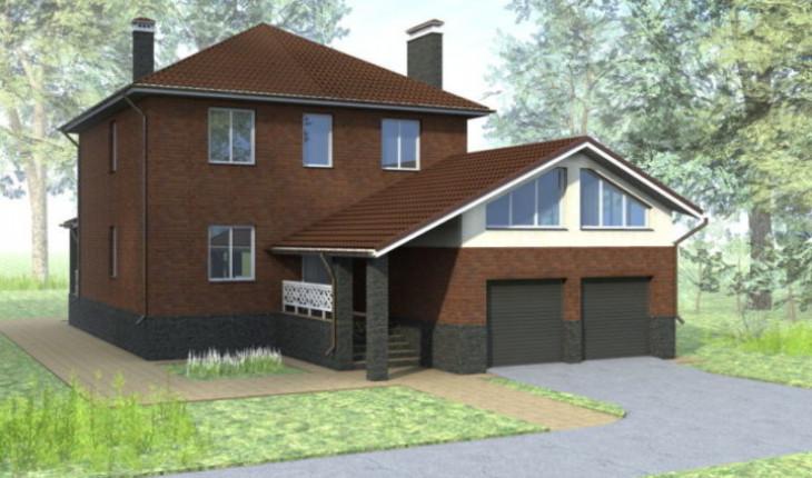 Уместность проекта дома с встроенным гаражом