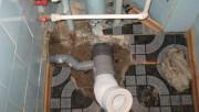 Демонтаж старой канализации