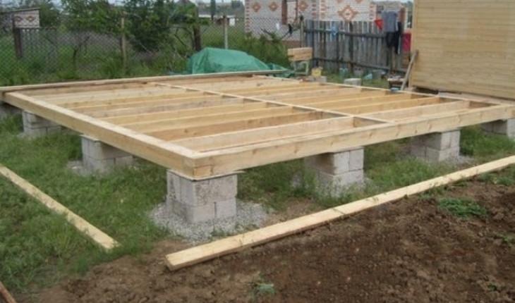 Простой фундамент для дачного дома