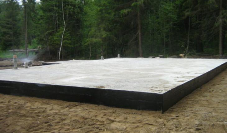 Фундамент в виде единой монолитной плиты