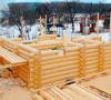 Оцилиндрованное бревно в строительстве домов