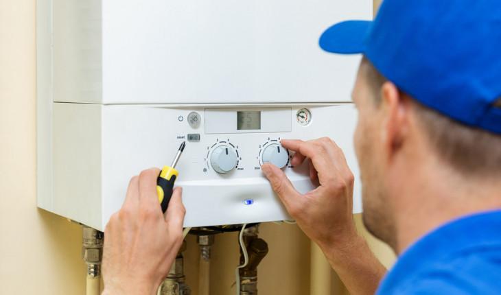 Установка газового обогревателя