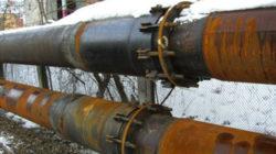 Поперечное сечение газопровода на участке компенсатора