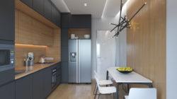Интерьеры небольшой кухни размером 10 кв.м в стилях Хай-тек, минимализм, эко