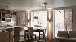 Современный дизайн-интерьера кухни-гостиной в маленькой квартире