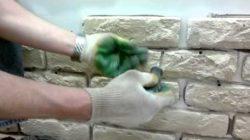 Технология приклеивания искусственного камня