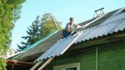 Перекрываем крышу шифером