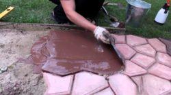 Как сделать качественную тротуарную плитку своими силами