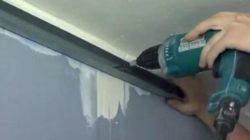 Как закрепить профиль к стене