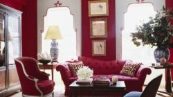 Интерьер гостиной и красный цвет