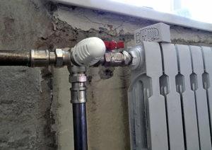 Батарея отопления секционная с краном вентилем