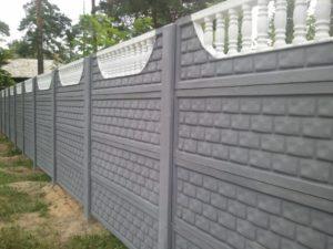 Красивый забор из бетона