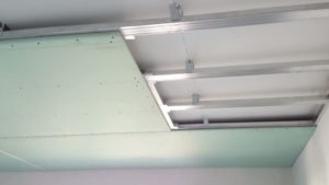Крепление потолка из гипсокартона