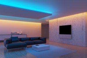 Потолок с подсветкой из светодиодов